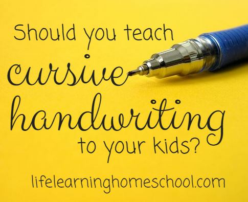 Should you teach your child cursive